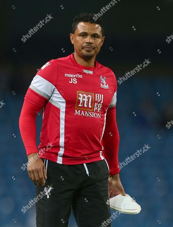 Crystal Palace coach John Salako during the Capital One Cup Fourth Round match between Manchester City and Crystal Palace played at The Etihad Stadium, Manchester on October 28th 2015