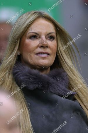 Ulla Sandrock, wife of Liverpool Manager Jurgen Klopp during the Capital One Cup, Fourth Round match between Liverpool and AFC Bournemouth played at Anfield, Liverpool