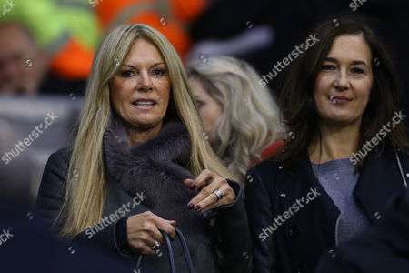 Ulla Sandrock, left, wife of Liverpool Manager Jurgen Klopp during the Capital One Cup, Fourth Round match between Liverpool and AFC Bournemouth played at Anfield, Liverpool