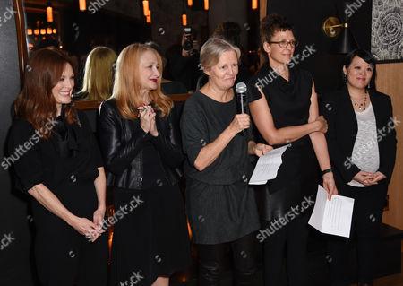 Julianne Moore, Patricia Clarkson, Mary Harron, Rebecca Miller, and Mynette Louie