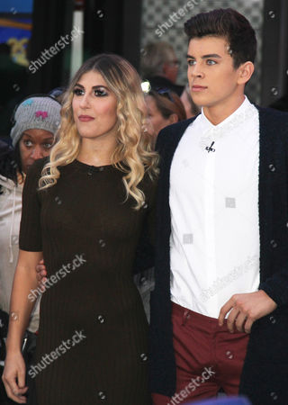 Stock Photo of Emma Slater and Hayes Grier