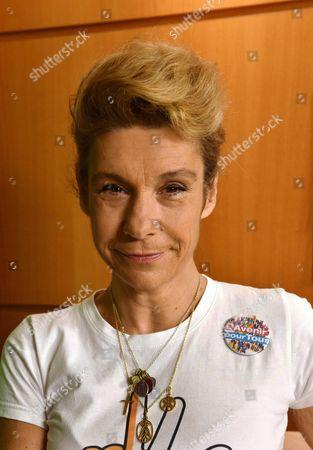 """Virginie Tellenne (Alias Frigide Barjot) president of """" l'Avenir Pour Tous""""."""