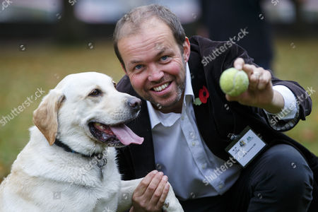 Stock Picture of David Burrowes and his dog Cholmeley