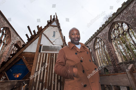 Theaster Gates with his installation titled 'Sanctum'