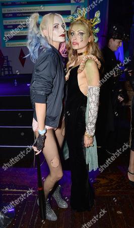Poppy Delevingne and Camilla Al-Fayed