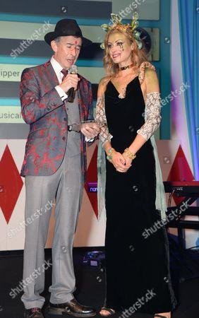 Steve Coogan and Camilla Al-Fayed