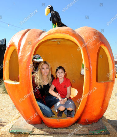 Editorial picture of Tess Broussard and daughter Ava at Mr. Bones Pumpkin Patch, Los Angeles, America - 29 Oct 2015