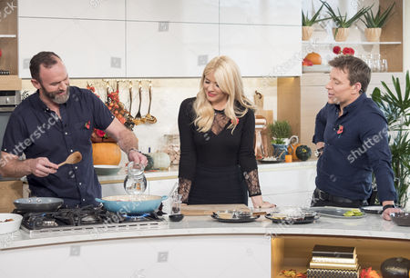 Glynn Purnell with Holly Willoughby and Ben Shephard