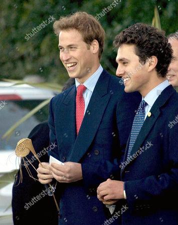 Prince William and Thomas Van Straubenzee sing 'Jerusalem'