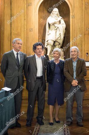 Hedi Kaddour, Boualem Sansal and Novel Grand Prix staff