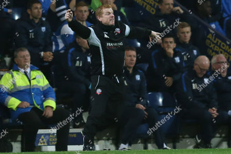 Bolton Wanderers manager Neil Lennon during the Sky Bet Championship match between Preston North End and Bolton Wanderers played at Deepdale on October 31st  2015
