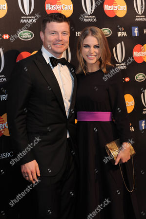 Brian O'Driscoll with his wife Amy Huberman