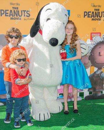 August Maturo, Ocean Maturo, Snoopy and Francesca Capaldi