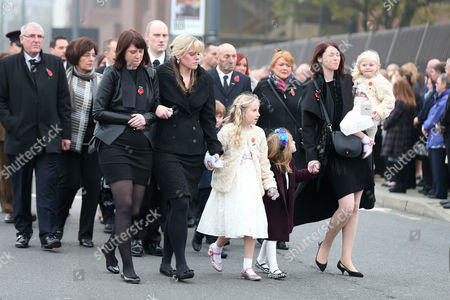 The family of PC Dave Phillips: Hannah Whieldon, Jen Phillips, Abigail Phillips, Kate Phillips and Sophie Phillips