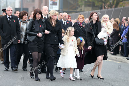 The family of PC Dave Phillips: Kate Phillips, Jen Phillips, Abigail Phillips, Hannah Whieldon, and Sophie Phillips