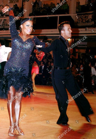 Stock Image of Ballroom dancers - Bruce Lait and Crystal Main