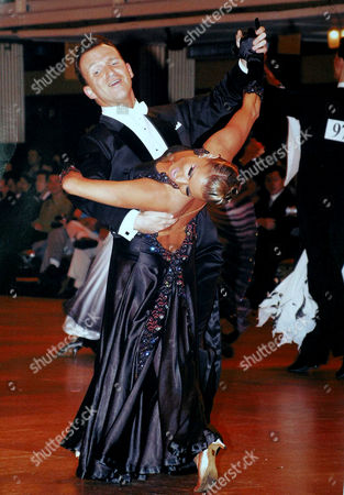 Stock Picture of Ballroom dancers Bruce Lait and Crystal Main