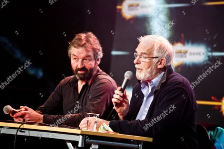 """Ian McElhinney and Ian Beattie during a """"Game of Thrones"""" Q&A"""