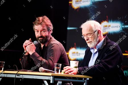 """Stock Photo of Ian McElhinney and Ian Beattie during a """"Game of Thrones"""" Q&A"""