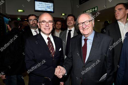 Bernard Cazeneuve and Roger Cukierman