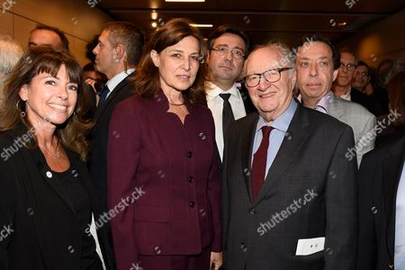 Guest, Aliza Bin Noun, Israeli Ambassador in France, and Roger Cukierman