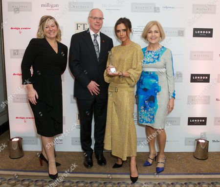 Michelle Emmerson (CEO Walpole), David Hesketh, Victoria Beckham and Gillian de Bono