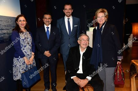 Guest, guest, Prince Nikolaos, Ex King Constantine and Queen Anne-Marie