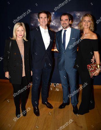Crown Prince Pavlos of Greece, Crown Princess Marie-Chantal of Greece, Prince Nikolaos of Greece and Princess Tatiana