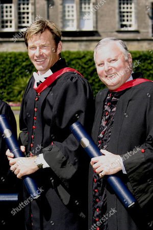 Nick Faldo and golf commentator Peter Alliss were awarded honorary degrees