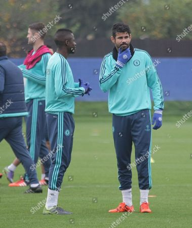 Ramires with Diego Costa