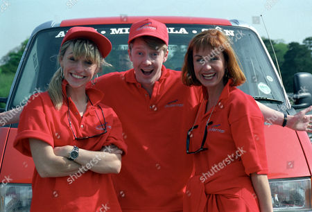 Michaela Strachan, Andy Crane and Sian Lloyd
