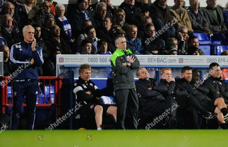 Ipswich Town Manager Mick McCarthy and Bolton Wanderers Manager Neil Lennon during the Sky Bet Championship match between Ipswich Town and Bolton Wanderers played at Portman Road, Ipswich on November 3rd 2015