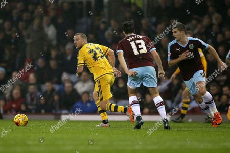 Jamie O'Hara during the SKY Bet Championship match between Burnley and Fulham played at Turf Moor, Burnley