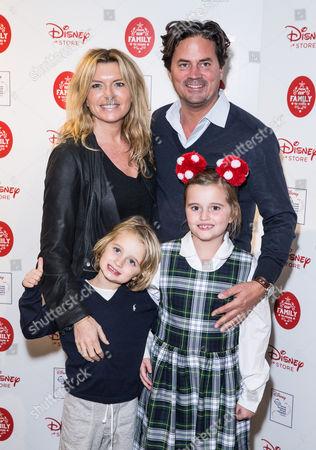 Tina Hobley, Oli Wheeler and kids