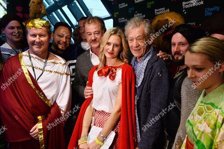 Owen Teale, Laura Carmichael and Sir Ian McKellen