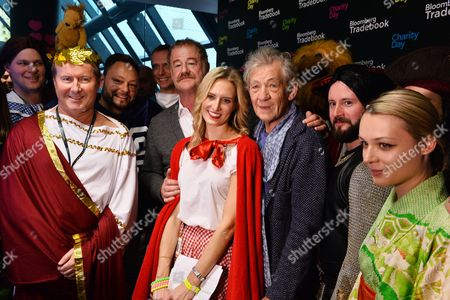 Stock Picture of Owen Teale, Laura Carmichael and Sir Ian McKellen