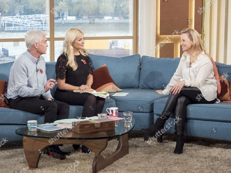 Phillip Schofield and Holly Willoughby with Sofia Helin