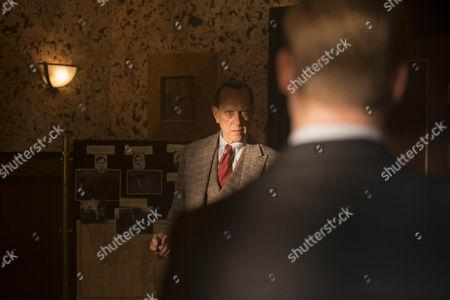 Richard E Grant as Bulstrode and Tom Rhys Harries as Sackler.