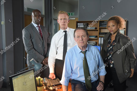 Kevin Whately as Lewis, Laurence Fox as Di James Hathaway, Steve Toussaint as Cs Joseph Moody and Angela Griffin as Ds Lizzie Maddox.