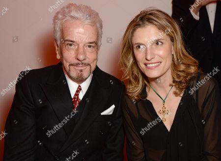 Nicky Haslam and Martina Mondadori Sartogo