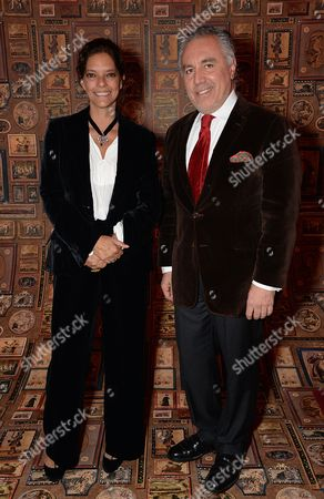 Stock Photo of Carolina Irving and Miguel Flores Viana