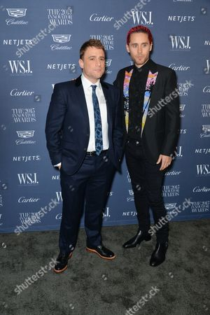 Technology Innovator Stewart Butterfield (L) and actor Jared Leto