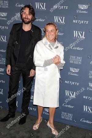 Francesco Vezzoli and Miuccia Prada
