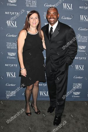 Daniela Campari, American Cancer Society SVP of Integrated Marketing and Chris Draft, former NFL player