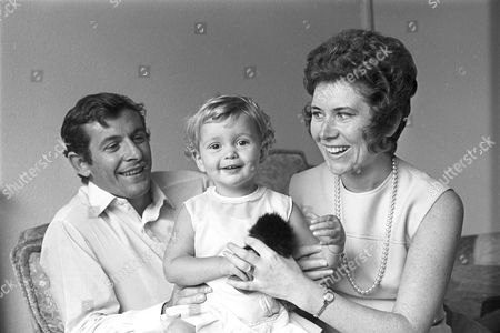 Alan Mullery with his wife and daughter - 1970's