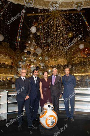 Galeries Lafayette officials Philippe Houze, Nicolas Houze, Agnes Vigneron, Guillaume Houze, Jean Francois Camilleri