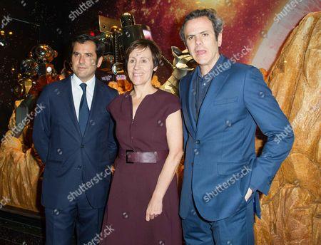 Galeries Lafayette officials Nicolas Houze, Agnes Vigneron, Jean Francois Camilleri