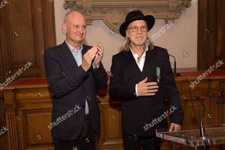 Elliott Murphy and Christophe Girard, Mayor of the 4th district of Paris