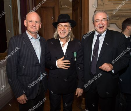 Christophe Girard Mayor of the 4th district of Paris, Elliott Murphy and Jean-Paul Huchon