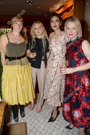 Molly Goddard, Hannah Weiland, Alexa Chung and Lorraine Candy